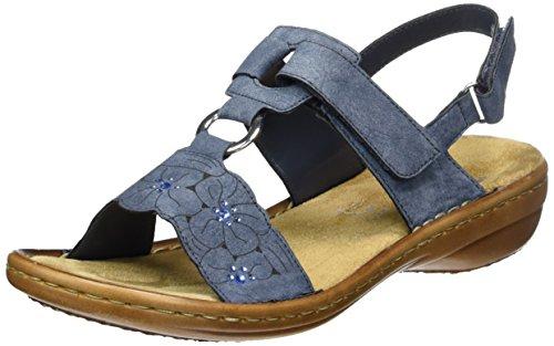 Rieker Damen - offene Sandalen mit Keilabsatz (Gr 37-42)