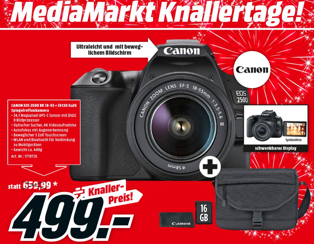 [MM SCS Graz] Knallertage Sammeldeal - z.B. Canon EOS 250D Kit
