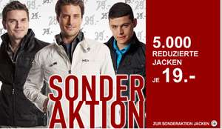 5.000 Jacken für je 19€ im C&A Onlineshop