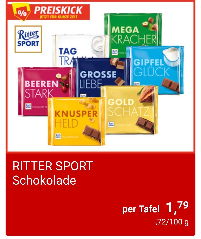 [Hofer] Preiskick - RITTER SPORT Schokolade 250 g