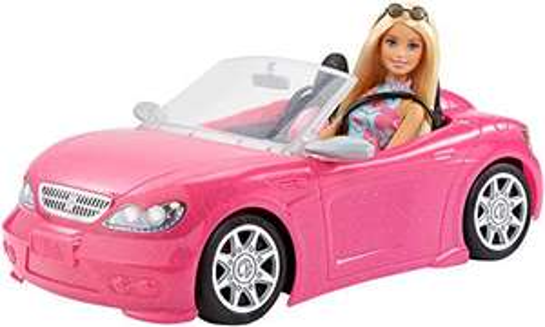 Barbie Puppe und Cabrio