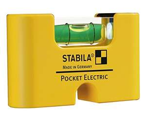 Stabila Pocket Electric Wasserwaage (ideal für Steckdosen) (Plus-Produkt)