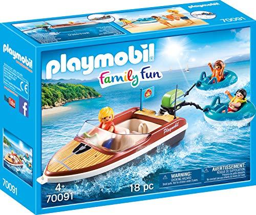 Playmobil Family Fun - Sportboot mit Fun-Reifen (70091)
