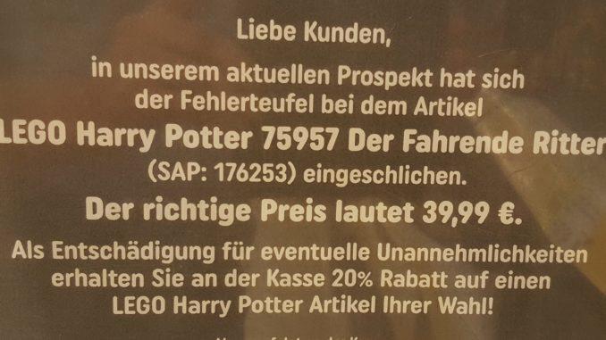 20% Rabatt auf alle LEGO Harry Potter Sets bei SMYTHS