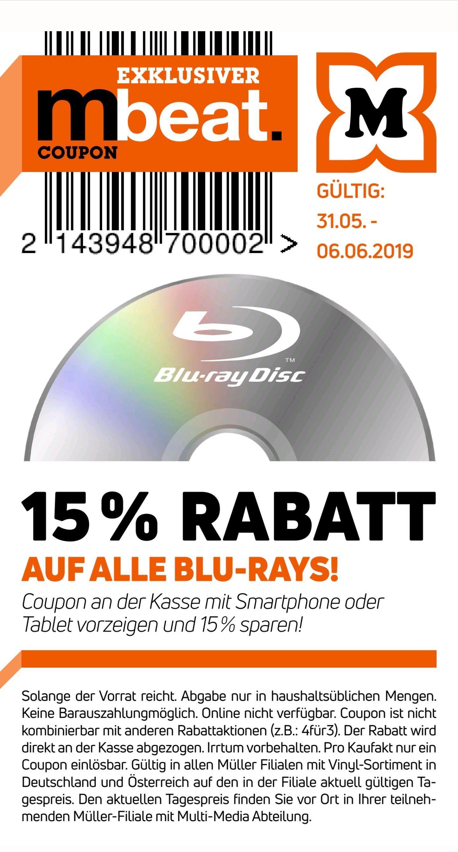 Müller -15% auf alle Blu-Rays