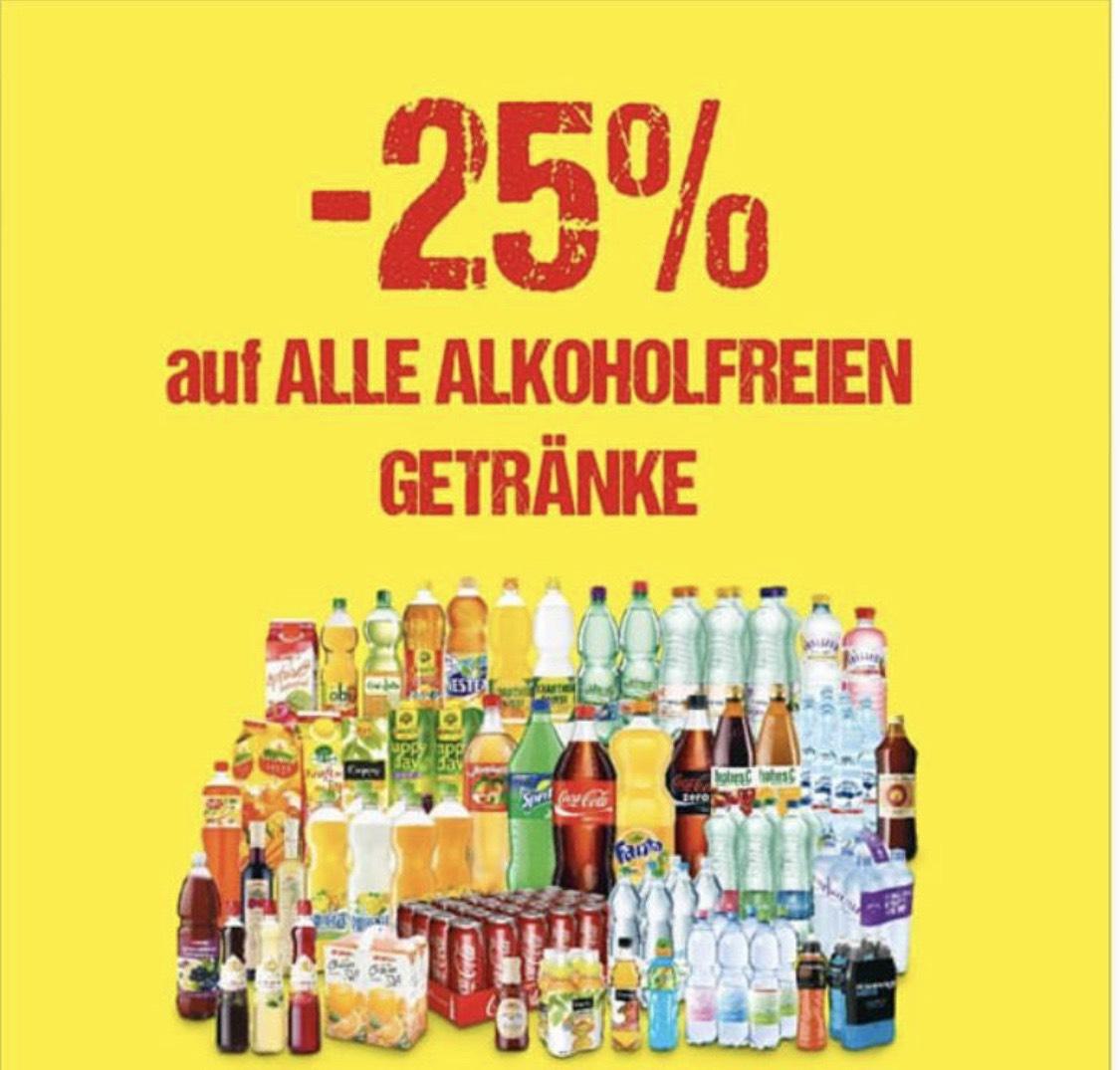 -25% auf alle alkoholfreien Getränke [Maximarkt]