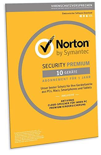 amazon.at: Norton Security Premium 2019 | 10 Geräte | 1 Jahr