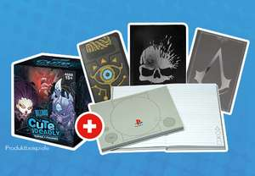 [Gamestop] Fanartikel ab 10 Euro kaufen und Notizbuch im Wert von 7,99 Euro gratis dazu bekommen und mehr