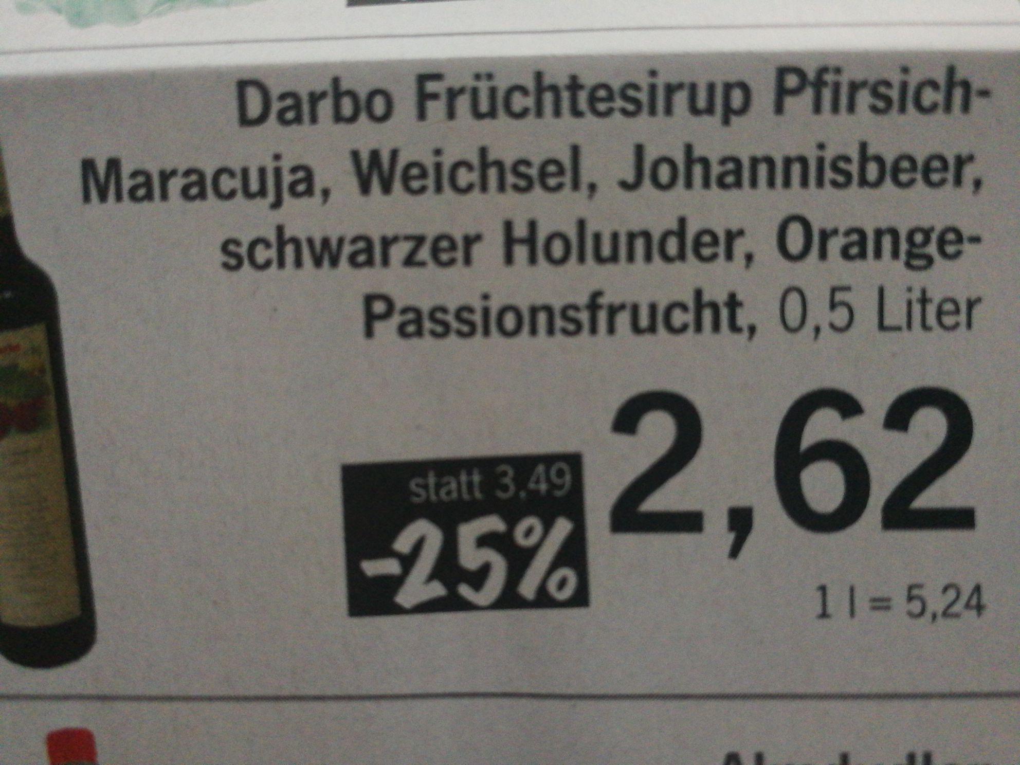 -25% auf alle alkoholfreien Getränke bei Pro in Linz. Darbo Säfte in Aktion!