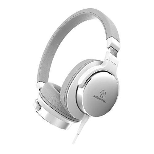 Audio-Technica ATH-SR5BK Ohraufliegende High-Resolution Kopfhörer weiß