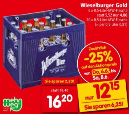 -25% auf Bier fürs kommende Sommerfest