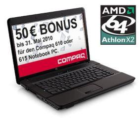 """Günstigster 15"""" Laptop: HP Compaq 615 für 244€ (inkl. Cashback)"""