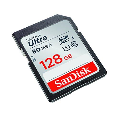 SanDisk Ultra SDXC 128 GB bis 80 MB/Sek, Class 10
