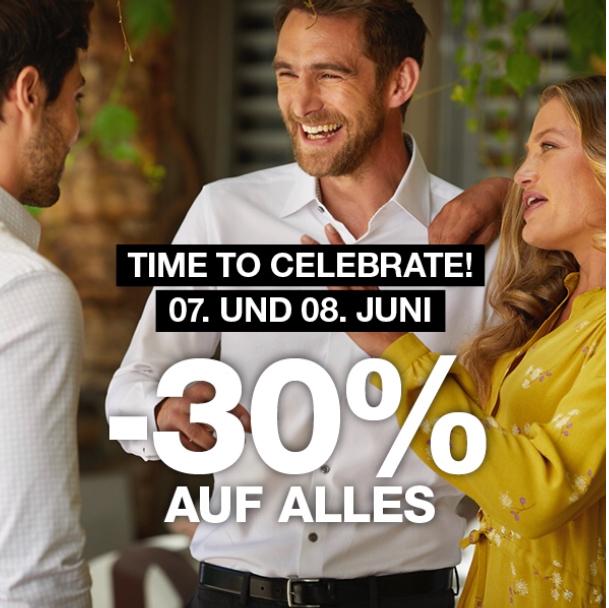 30% bei Dressmann am 07. und 08.Juni