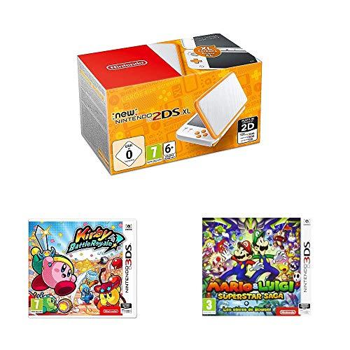 Nintendo 2DS XL + Mario & Luigi Superstar Saga + Kirby Battle Royale