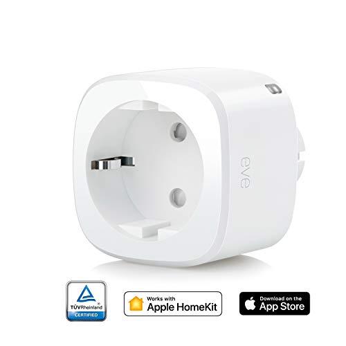 Eve Energy - Smarte Steckdose, Verbrauchsmessung, integrierte Zeitpläne (Apple HomeKit)