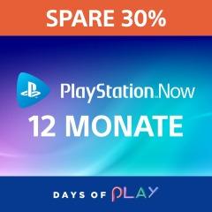 PlayStation Now: 12-monatiges Abonnement