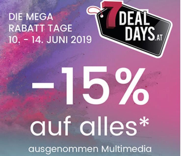 15 % auf alles (ausgenommen Multimedia und Premiummöbel)