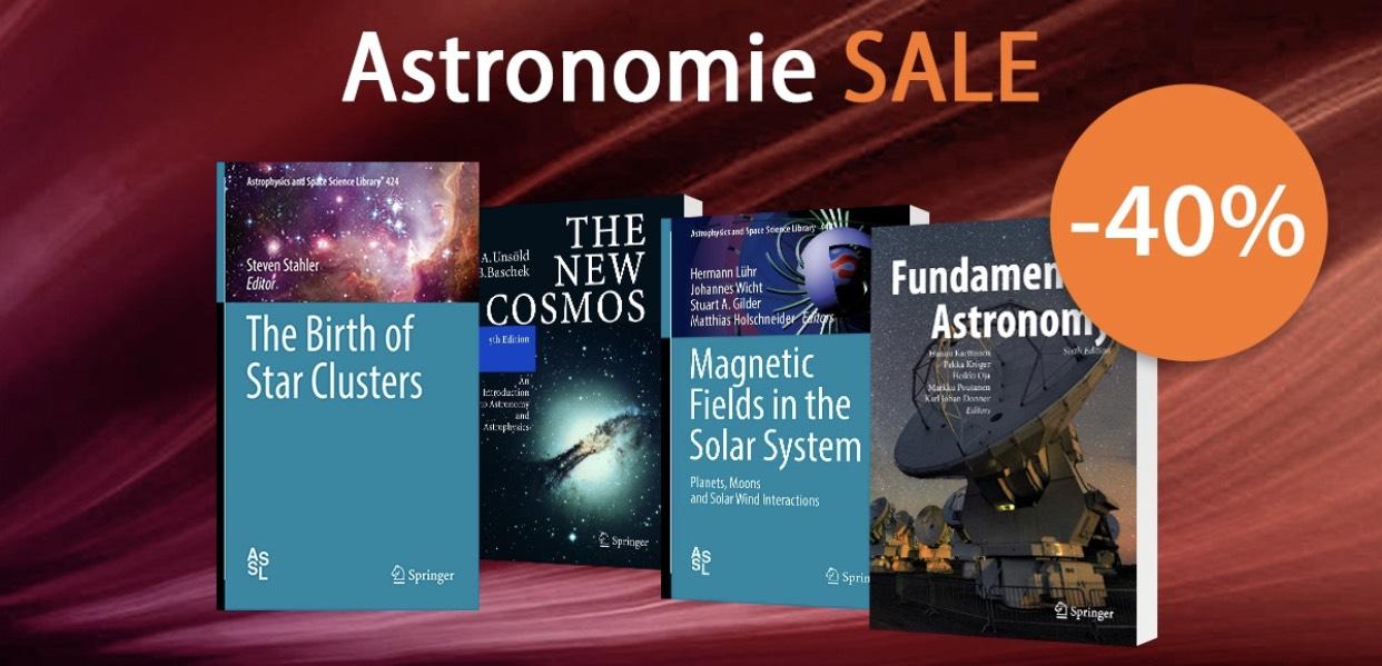 (Schlauer Preisjäger) 40% Rabatt auf englischsprachige Sachbücher der Astronomie