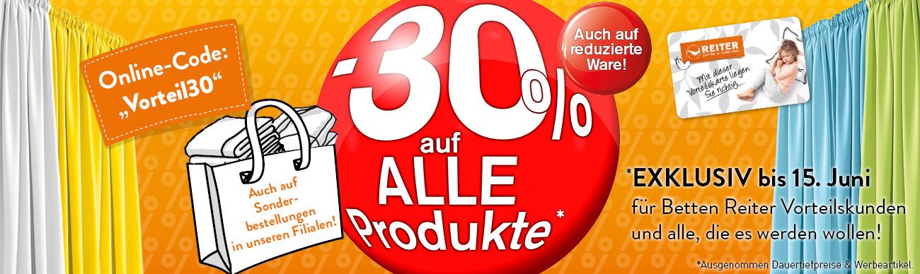Betten Vorhang Reiter -30% auf alle Produkte