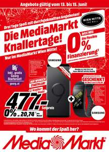 [Media Markt Wien Mitte] Samsung Galaxy *S9 Plus*  Duos 64gb + Samsung Gear Fit 2 Pro Smart Watch