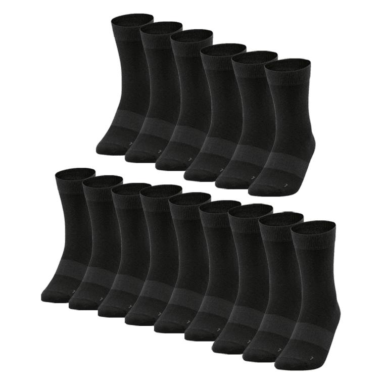 Jako Freizeitsocken 15er Pack schwarz / anthrazit in den Größen 35 - 50