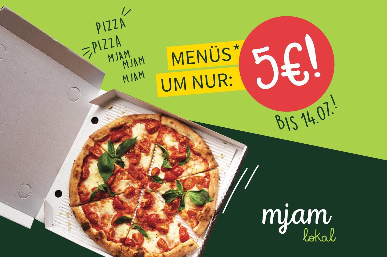 (Lokal-Wien) Mjam 5€ Menüs - bis 14.7.2019