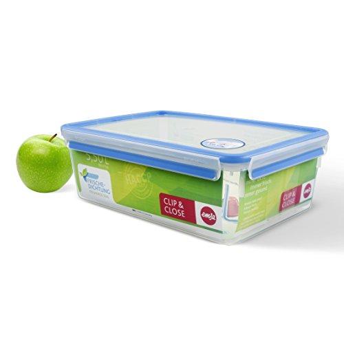 Emsa 508547 Rechteckige Frischhaltedose mit Deckel, 5.5 Liter