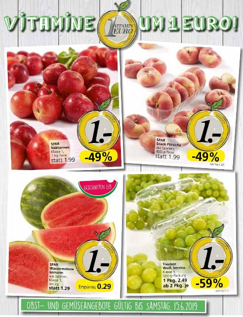 Vitamine um 1 Euro - z.B. 1kg Nektarinen statt 1,99 Euro