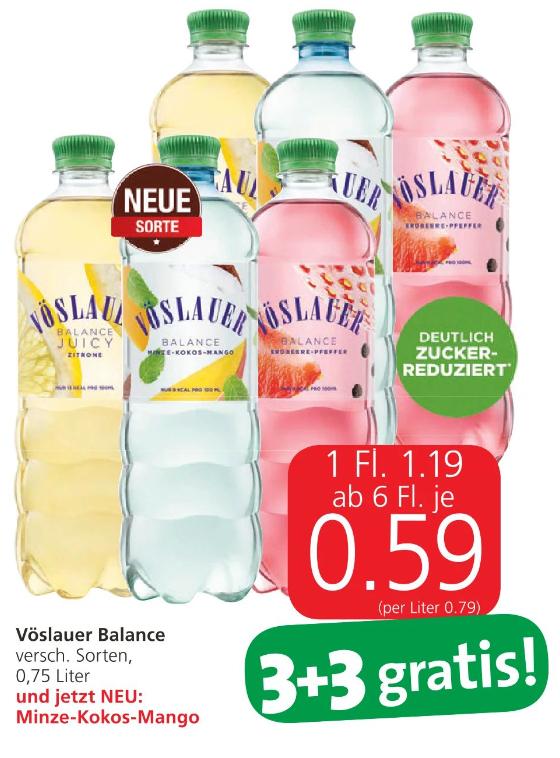 [Spar/Eurospar/Interspar] Vöslauer Balance ab 6 Flaschen je 59 Cent