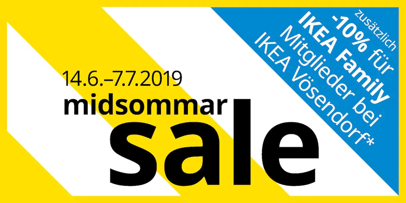[Ikea Vösendorf u. St. Pölten Kompakt] -10% zusätzlich auf MIDSOMMAR preisreduzierte Ware
