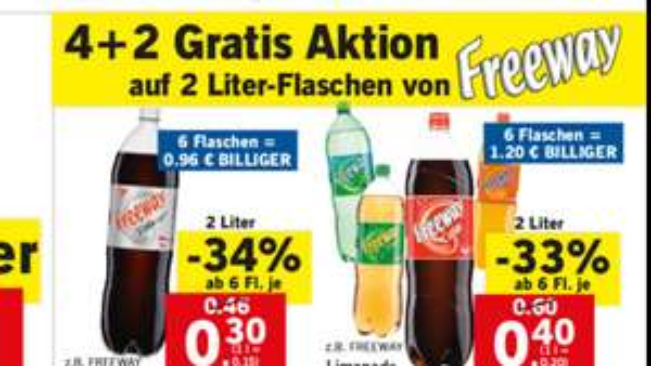 Freeway Limonade oder zuckerfrei im Supersamstag Deal mit 10% Gutschein nochmal billiger