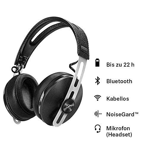 Sennheiser Momentum M2 AEBT Kopfhörer (Wireless, Bluetooth, 3,5 mm Klinkenstecker, Noise Cancelling), Schwarz