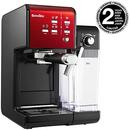 Breville PrimaLatte II Kaffee- und Espressomaschine VFC109X-01 (19 bar, Kaffeepulver oder Pads, integrierter automatischer Milchschäumer)