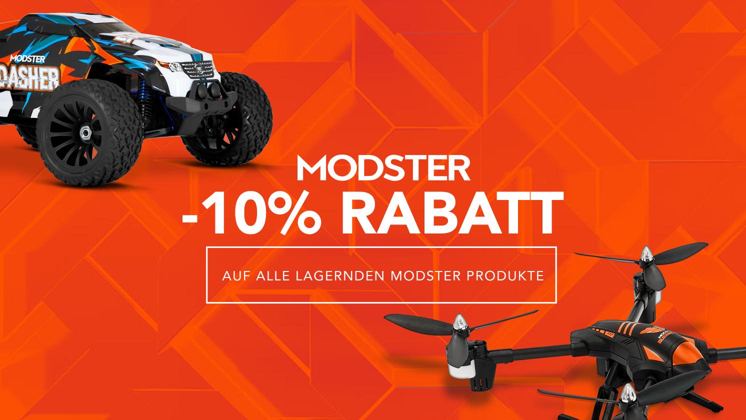 -10 % auf alle lagernden Modster Produkte bei Modellbau Schweighofer