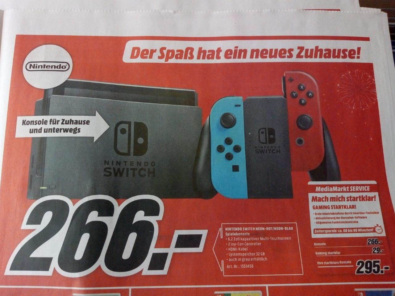 [MediaMarkt Industriezeile Linz] Nintendo Switch um 266 Euro