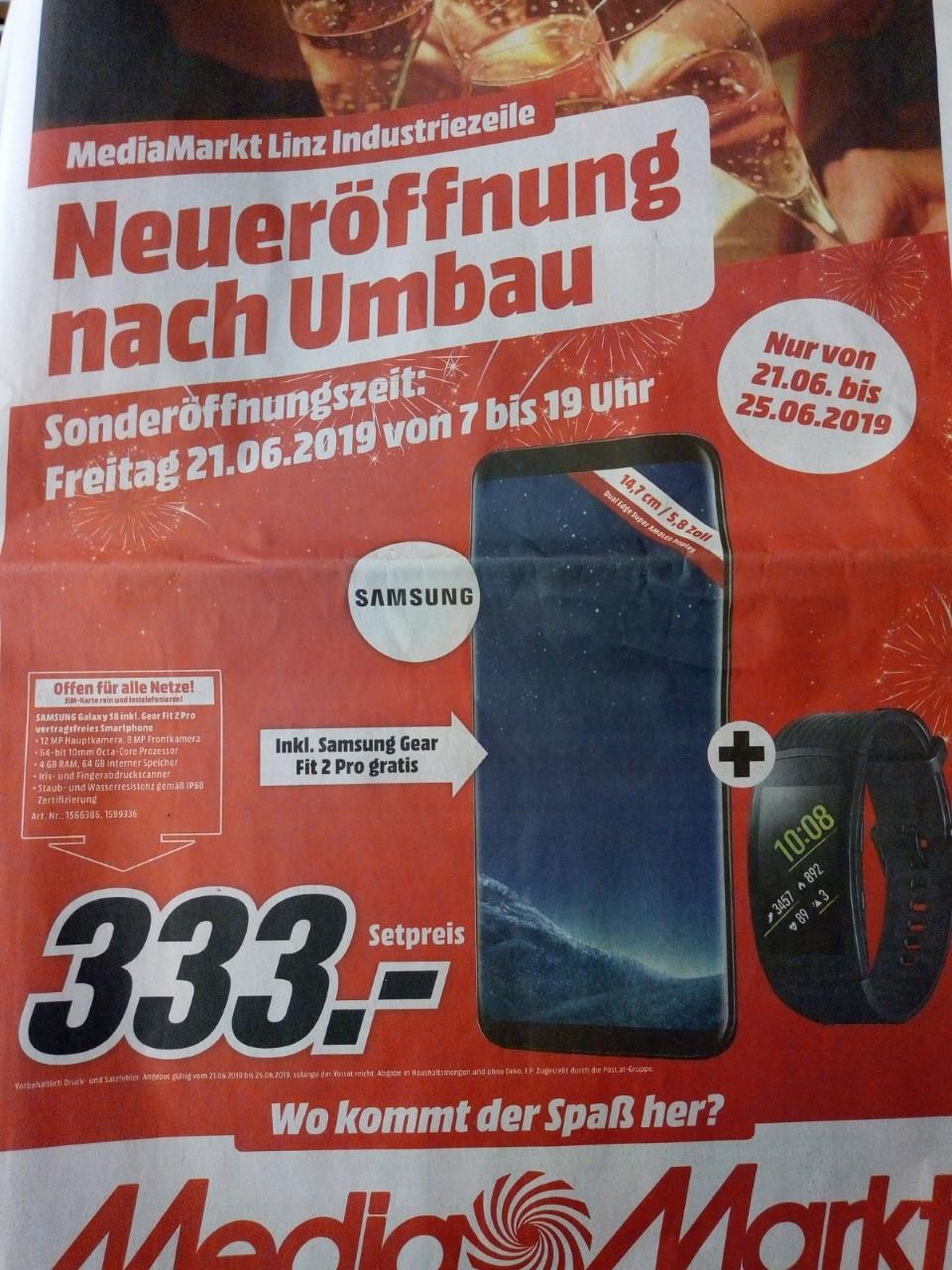 [MediaMarkt Industriezeile Linz] Samsung Galaxy S8 und Gear Fit 2 Pro