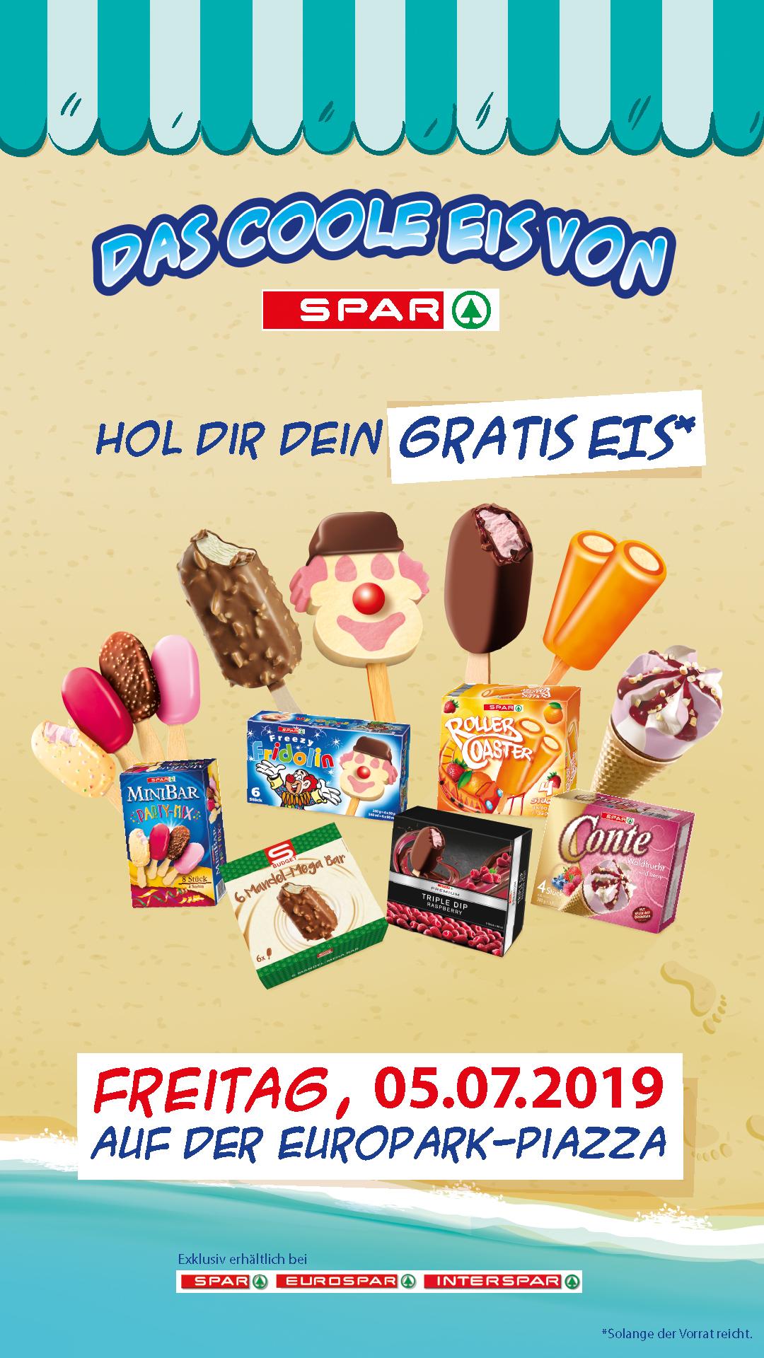 EUROPARK Salzburg GRATIS EIS am 5.7  wie weitere div. Zeugnisaktionen!!