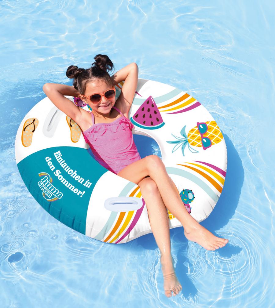 HUMA ELEVEN > für Kids GRATIS XL Schwimmreifen ! Nur am 28.6 > Zeugnis mitnehmen