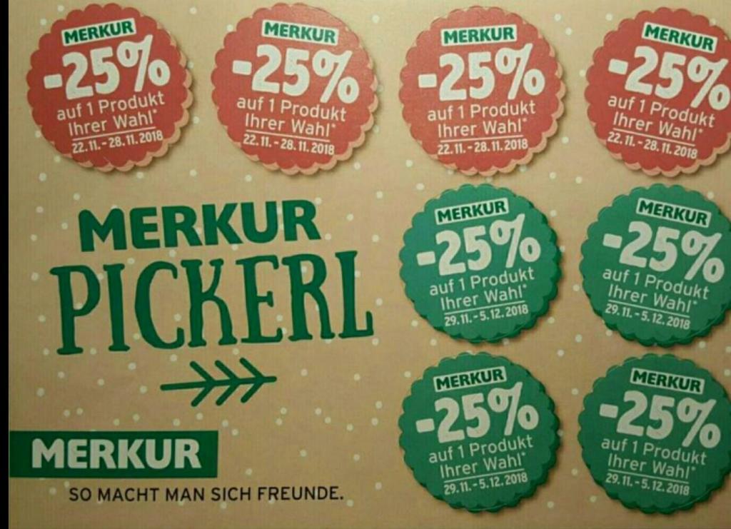 (Merkur) -25% Rabatt Sticker von 19.06 bis 03.07 auch ONLINE