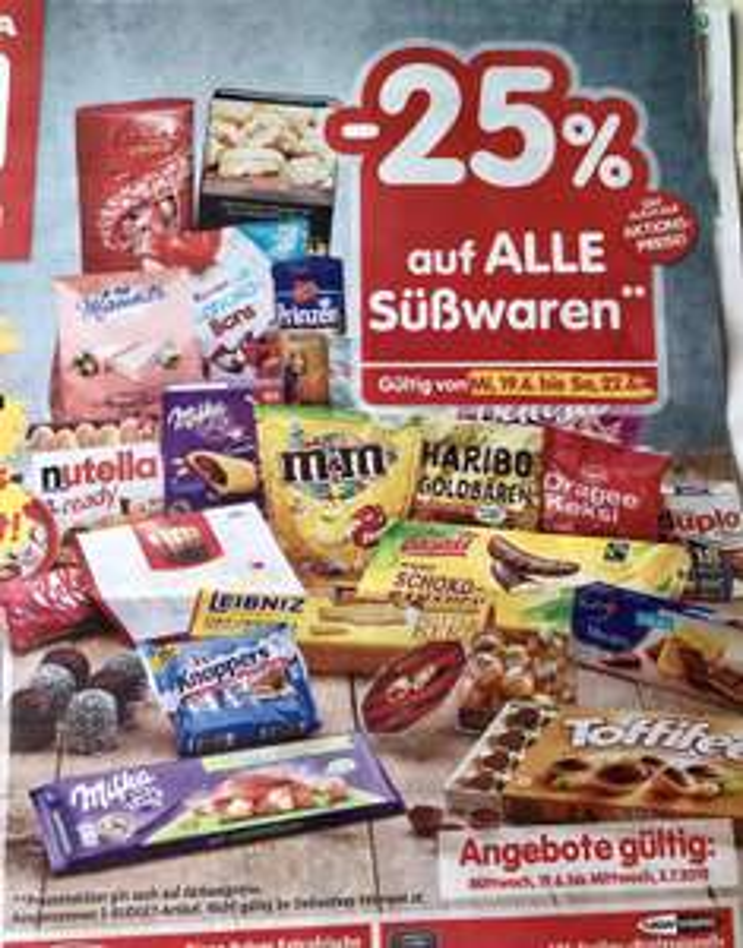 Interspar -25% auf Süßigkeiten