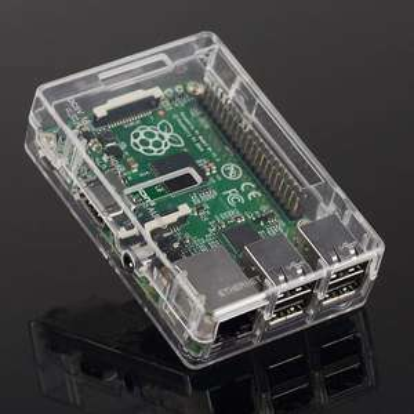 "(1090 Wien) Raspberry ""Pi 3 Model B+"" Gehäuse (transparent)"