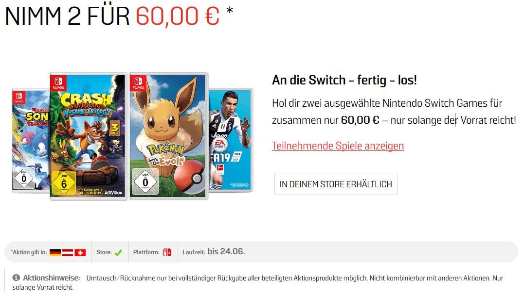 [Gamestop] 2 Switch Spiele um 60 Euro wie Team Sonic Racing oder Xenon Racer