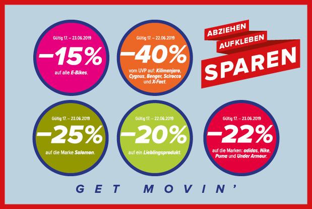 Hervis -20% auf den gesamten Einkauf und Prozente Festival => div. Gutscheincodes