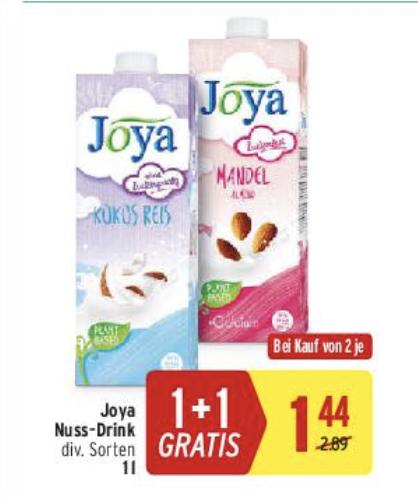 Joya Nuss-Drink 1 l div. Sorten 1+1 GRATIS