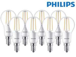8x Philips Classic LED Tropfen E14 5W/827 dimmbar (575291-00)