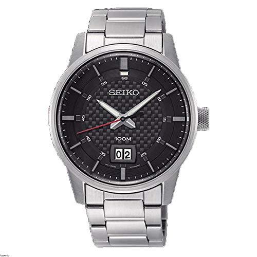 Seiko Quarz Uhr mit Edelstahl Armband (SUR269P1)