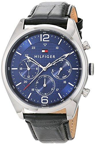 Tommy Hilfiger Herren-Armbanduhr Analog Quarz mit Lederarmband0 (1791182)
