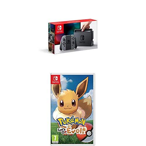 Nintendo Switch grau + Pokémon: Let's Go, Evoli