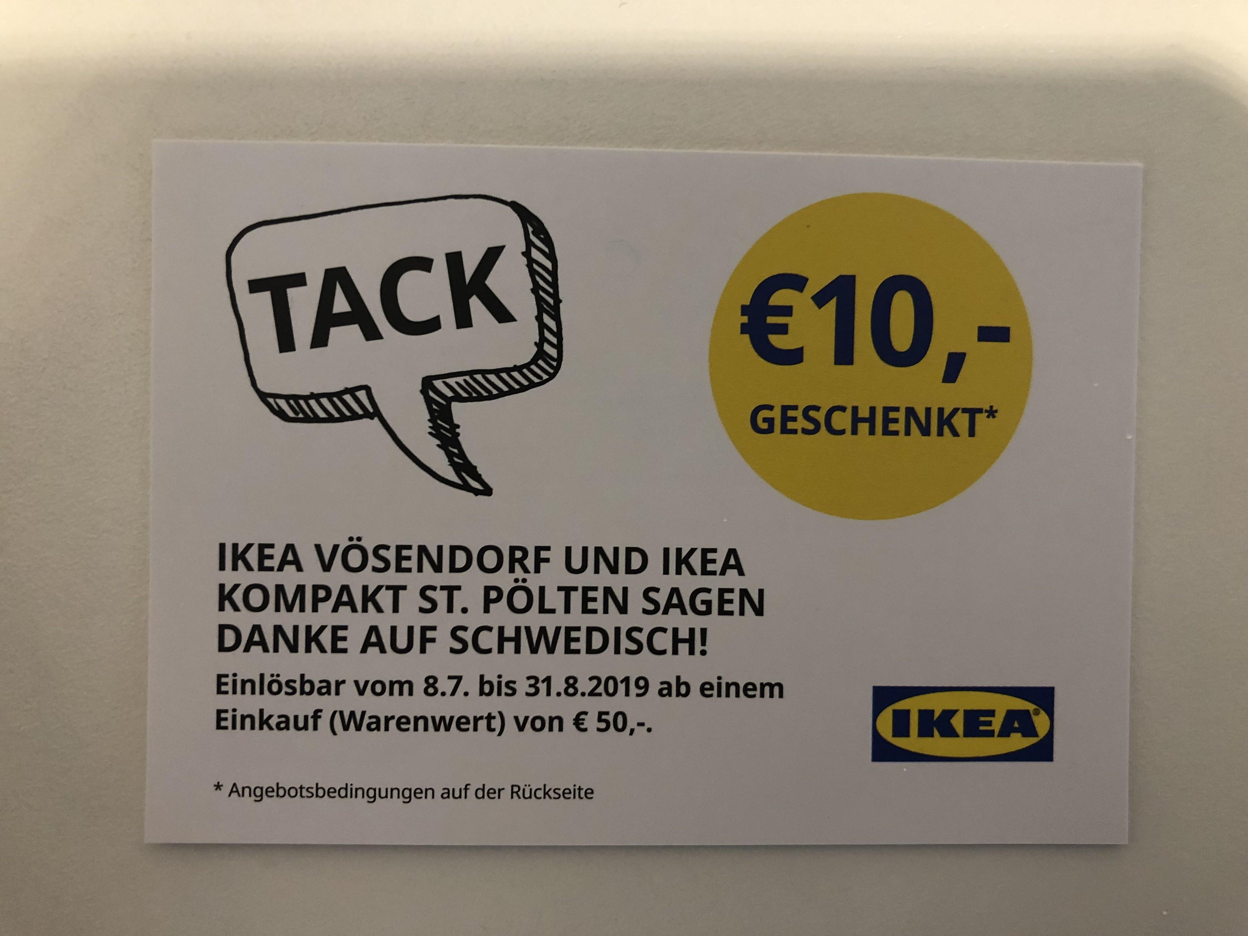 Ikea Vösendorf 10€ Gutschein
